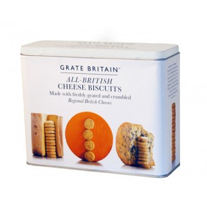 Great Britain Cheese Biscuits Gift Tin