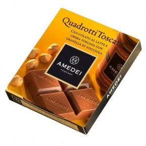 Quadrotti Milk Chocolate Bar with Crema Toscana filling