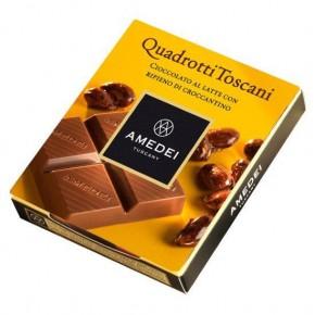 Quadrotti Milk Chocolate Bar with Croccantino filling
