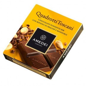 Quadrotti Dark Chocolate Bar with Praliné filling