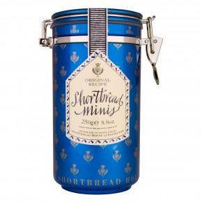Canister of Mini Shortbread Biscuits