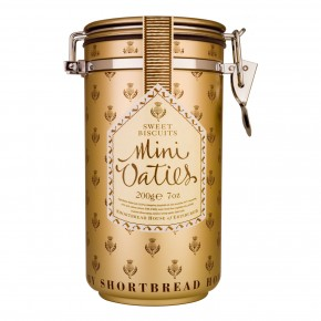Canister of Mini Oatie Biscuits