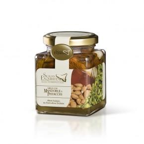Miele con mandorle e pistacchi