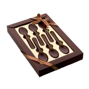 Scatola 12 Cucchiaini di Cioccolato Fondente