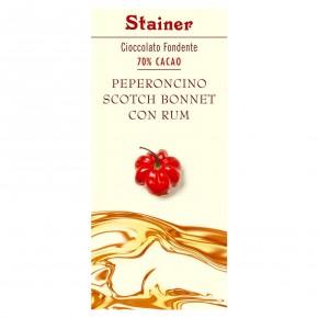 Cioccolato Fondente 70% Cacao Peperoncino Scotch Bonnet con Rum