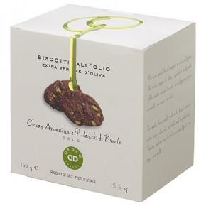 Biscotti Dolci all'Olio Extravergine di Oliva / Cacao Aromatico e Pistacchi