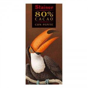 Cioccolato 80% Fondente con Pepite