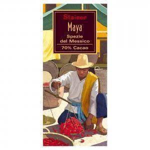 """Maya"" Cioccolato Fondente 70% Cacao Spezie del Messico"