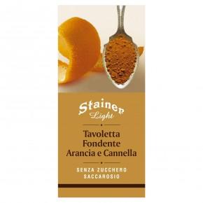 Tavoletta Fondetne Arancia e Cannella senza zucchero